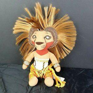"""Disney Lion King Broadway Musical Simba Plush 13"""""""